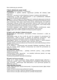 Prawo administracyjne materialne - Notatki - Ergonomia