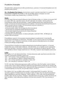 Przykładowy biznesplan - Notatki - Ergonomia
