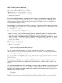 Evolución histórica del derecho romano - Apuntes - Derecho Romano