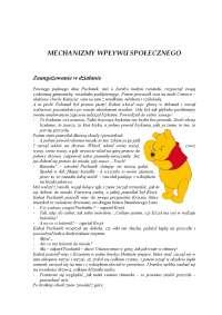 Mechanizmy wpływu społecznego - Notatki - Psychologia