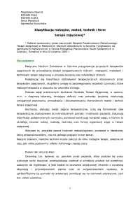 Klasyfikacja terapii zajęciowej - Notatki - Psychologia - Część 1