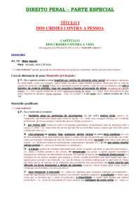 Direito Penal - Codigo Comentado - Parte Especial, Notas de estudo de Direito Penal
