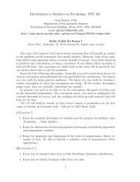 Basic Algebra - Introduction to Statistics in Psychology - Summary