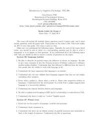 Language Instinct - Introduction to Cognitive Psychology - Handout