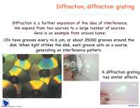 Diffraction grating - Optics and Modern Physics - Lecture Slides