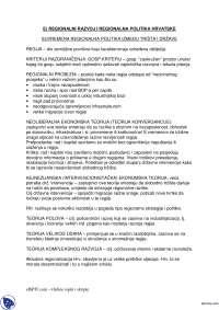 REGIONALNI RAZVOJ-Skripta-Hrvatsaka privreda-Ekonomija