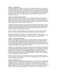 Scientific Method - Ecology, Evolution and Biodiversity - Summary