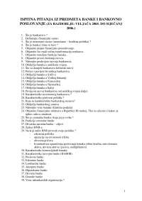 Ispitna Pitanja Ispit Ekonomija 3 Ispiti Predlog Ekonomija Docsity