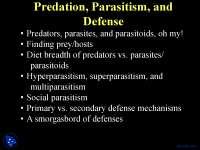 Predation, Parasitism - Entomology - Lecture Slides