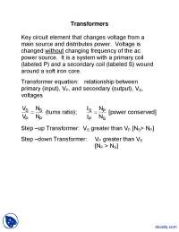 Transformers - General Physics - Lecture Notes