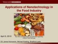 Food Industry - Nanotechnology - Lecture Slides