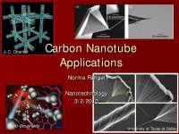 Carbon Nanotube Applications - Nanotechnology - Lecture Slides