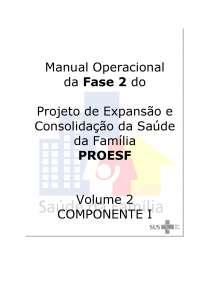 Manual Operacional VOLUME2 Componente Municipal Revisao 4, Manuais, Projetos, Pesquisas de Enfermagem