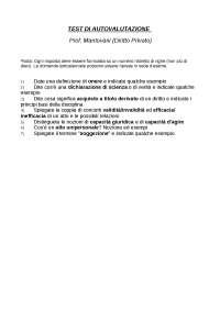 Esercitazione Esame Istituzioni Diritto Privato - Prof. Mantovani