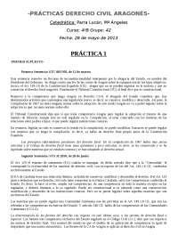 Prácticas de derecho civil aragonés