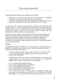 Procedura penale Lozzi - riassunto completo