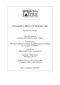 Tesi di laurea sul progetto ECOBEST