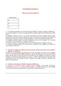 Esercizi svolti per l'esame scritto di economia politica (teoria), Prove d'esame di Economia Politica