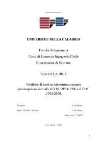 Tesi di laurea triennale in Ingegneria civile