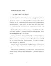 Foreign Exchange Market - Survey of International Economics - Handout