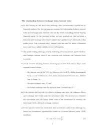Exchange and Interest Rates - Survey of International Economics - Handout
