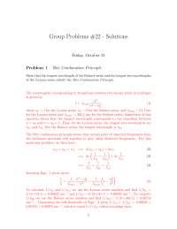 Ritz Combination Principle - Introduction to Relativity and Quantum Mechanics - Problem Sets