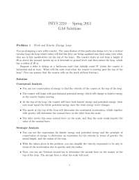 Work and Kinetic Energy - Physics for Scientists and Engineers I - Solved Problem Sets