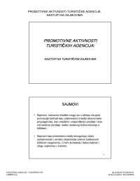 Nastupi na tur. sajmovima-Vezbe-Turisticke agencije i turoperatori-Turizam