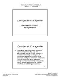 Osoblje tur. agencije-Vezbe-Turisticke agencije i turoperatori-Turizam, Vežbe' predlog Ekonomika turizma