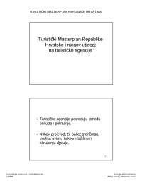 Turisticki masterplan RH-Vezbe-Turisticke agencije i turoperatori-Turizam
