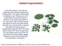Habitat Fragmentation - Conservation Biology - Lecture Slides