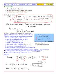 Similarity Solutions - Foundations of Fluid Mechanics I - Handout