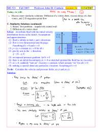 Vortex Sheet - Foundations of Fluid Mechanics I - Handout