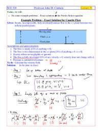 Couette Flow - Fluid Flow - Handout
