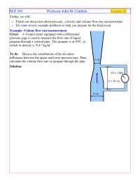 Pressure - Instrumentation, Measurements, Statistics - Handout
