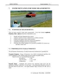 Instrumentation - Noise Control - Handout