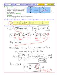 Stokes' First Problem - Foundations of Fluid Mechanics I - Handout
