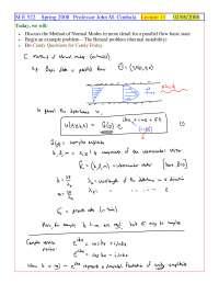 The Benard Problem - Foundations of Fluid Mechanics II - Handout