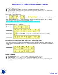 3-D Boundary Layer Equations - Foundations of Fluid Mechanics II - Lecture Notes