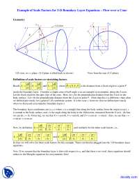 3-D Boundary Layer Cone - Foundations of Fluid Mechanics II - Lecture Notes