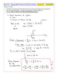 Thin Axisymmetric - Foundations of Fluid Mechanics II - Handout