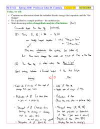 Order-of-Magnitude Analysis - Foundations of Fluid Mechanics II - Handout