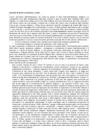 Appunti di diritto ecclesiastico - Manuale Cardia