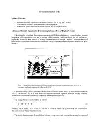 Evapotranspiration - Surface Hydrologic Processes and Modeling - Lecture Handout