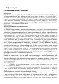 Esame di linguistica - Pianificazione linguistica, Dell'Aquila Iannaccaro
