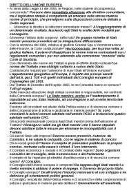 DIRITTO U.E. TEST IN ORDINE  ALFAB