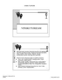 Vinski turizam-Vezbe-Enologija i somelijerstvo-Turizam