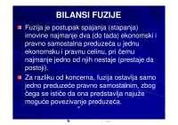 Bilansi Fuzije-Skripta-Specijalni bilansi-Ekonomija