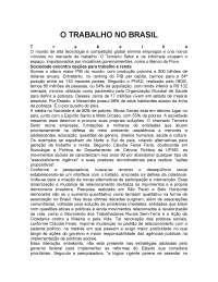 O trabalho no brasil