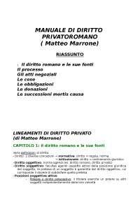DIRITTO PRIVATO ROMANO (1)